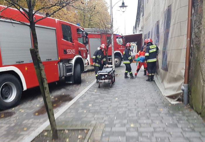 Wypadek w kamienicy w centrum miasta