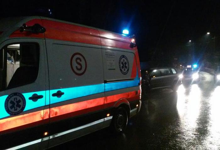 Jedna osoba poszkodowana w wieczornym wypadku
