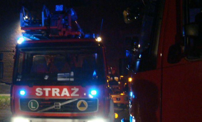W nocy spłonął budynek mieszkalny