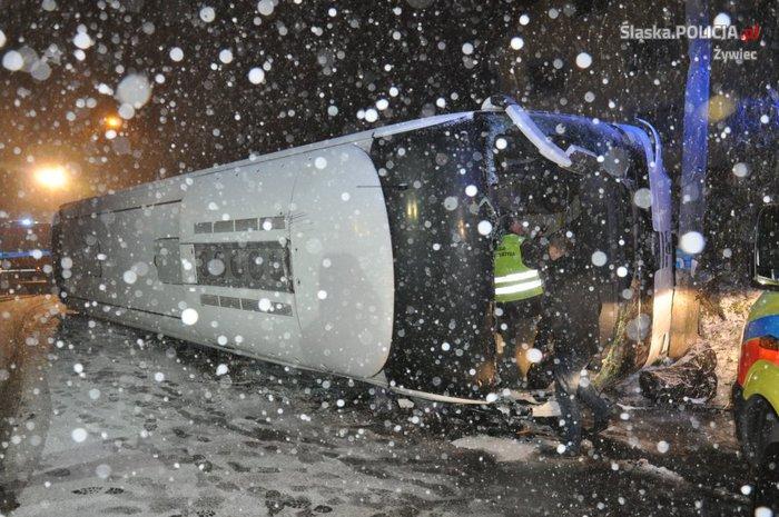 Wypadek autokaru. Poszkodowani z powiatu wadowickiego [AKTUALIZACJA]
