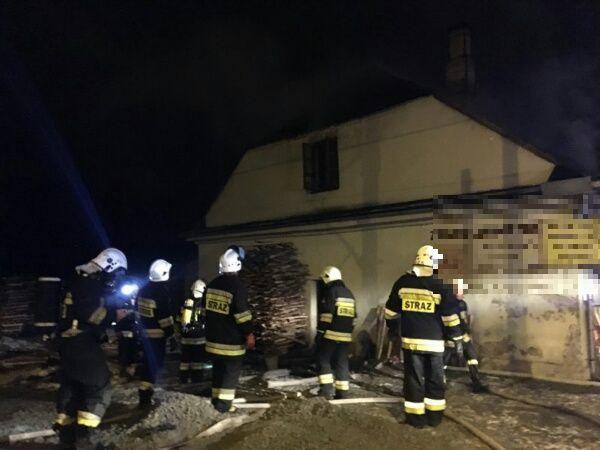 Pożar na terenie jednego z zakładów