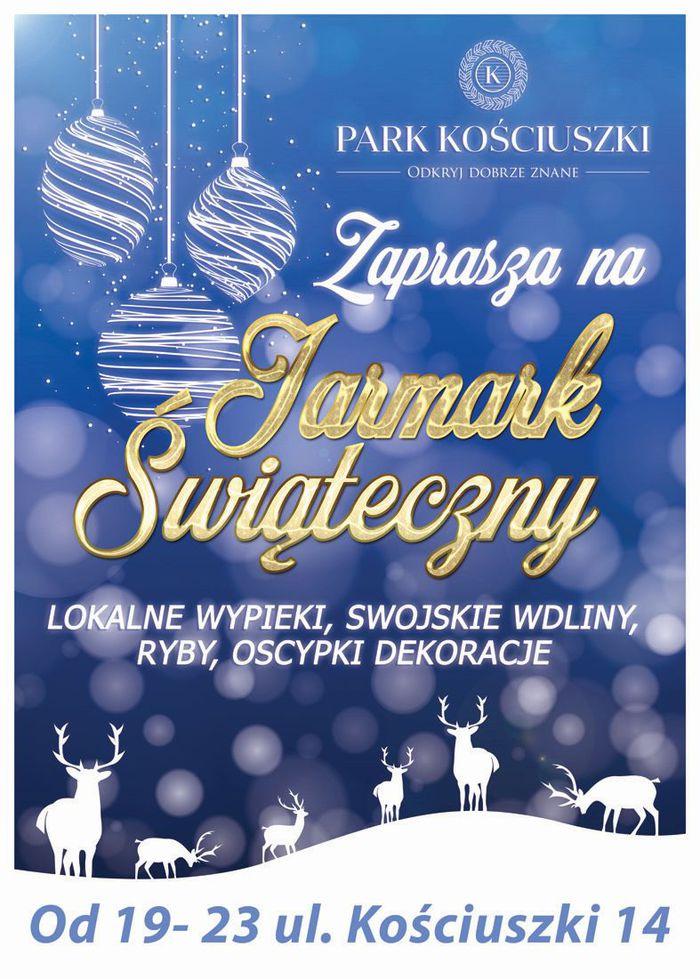 Park Kościuszki zaprasza na Jarmark Świąteczny