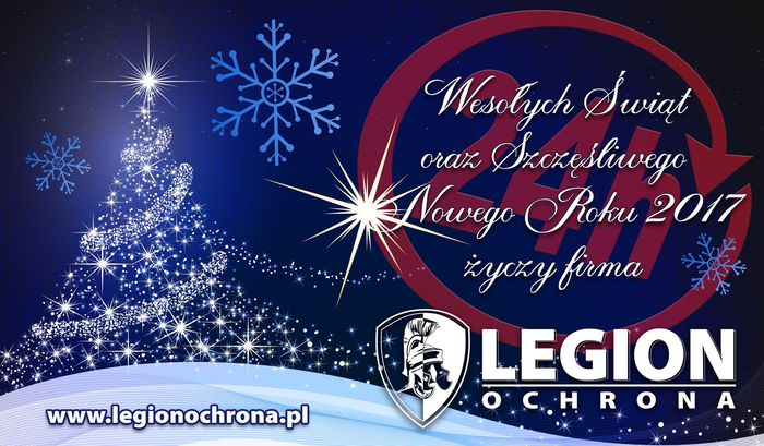 Życzenia Świąteczne i Noworoczne od firm LEGION OCHRONA i PROFER