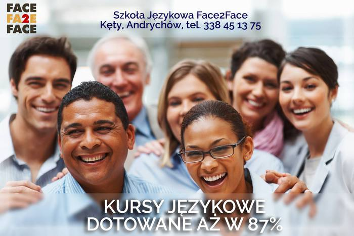 Kursy językowe dotowane w aż 87% w Szkole Językowej Face 2 Face