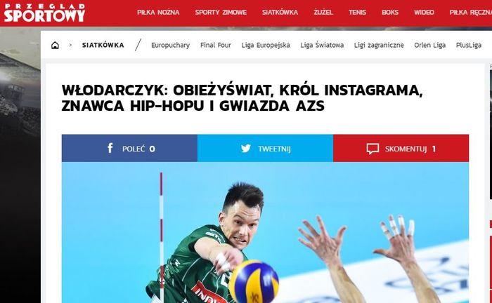 Przegląd Sportowy o siatkarzu z Andrychowa