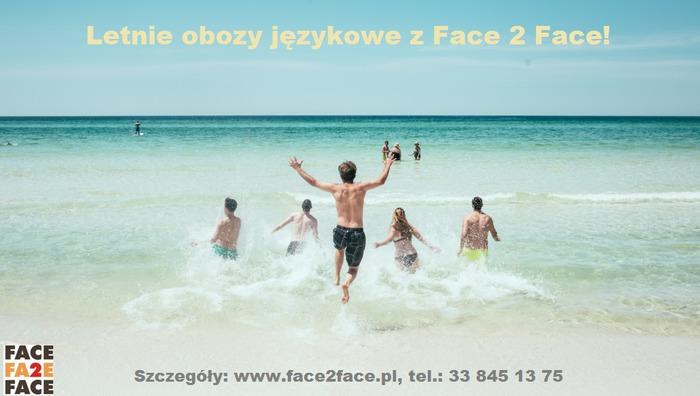 Letnie obozy językowe z Face 2 Face!