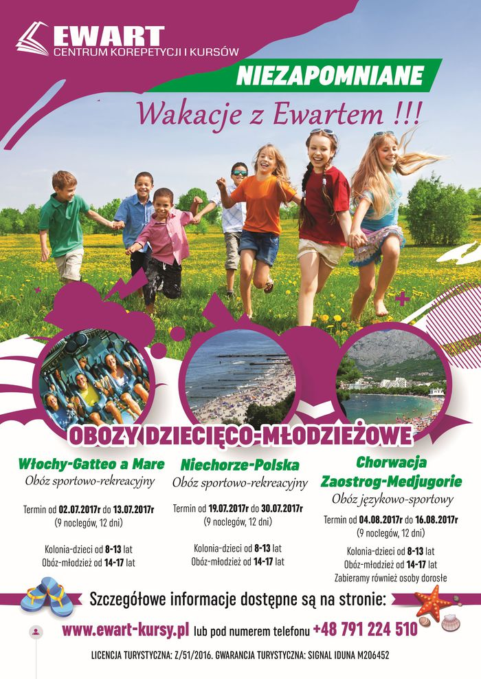 Last minute. Ostatnie wolne miejsca na obozy dziecięco-mlodzieżowe do Chorwacji i Niechorza