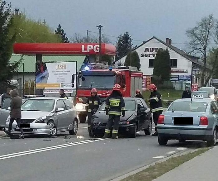 Wypadek na Krakowskiej w Andrychowie