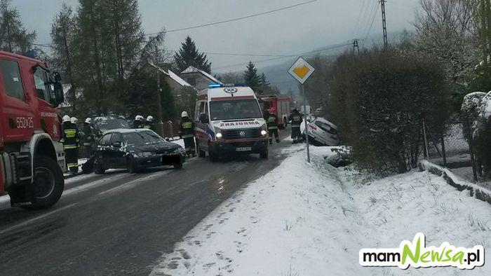 Wypadek na drodze wojewódzkiej [FOTO]
