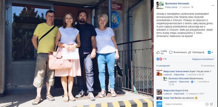 """Burmistrz oddał budynek po przedszkolu podopiecznym stowarzyszenia """"Dać Szansę"""""""