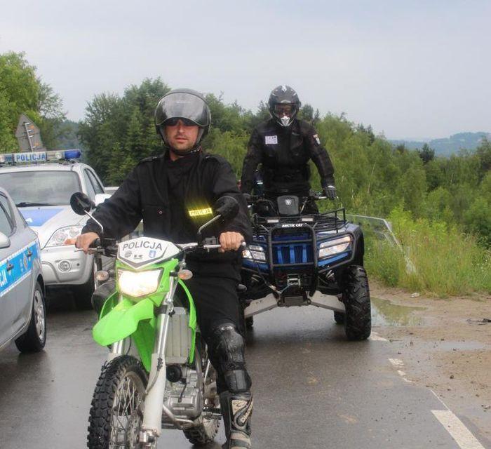 Policyjna akcja w lasach