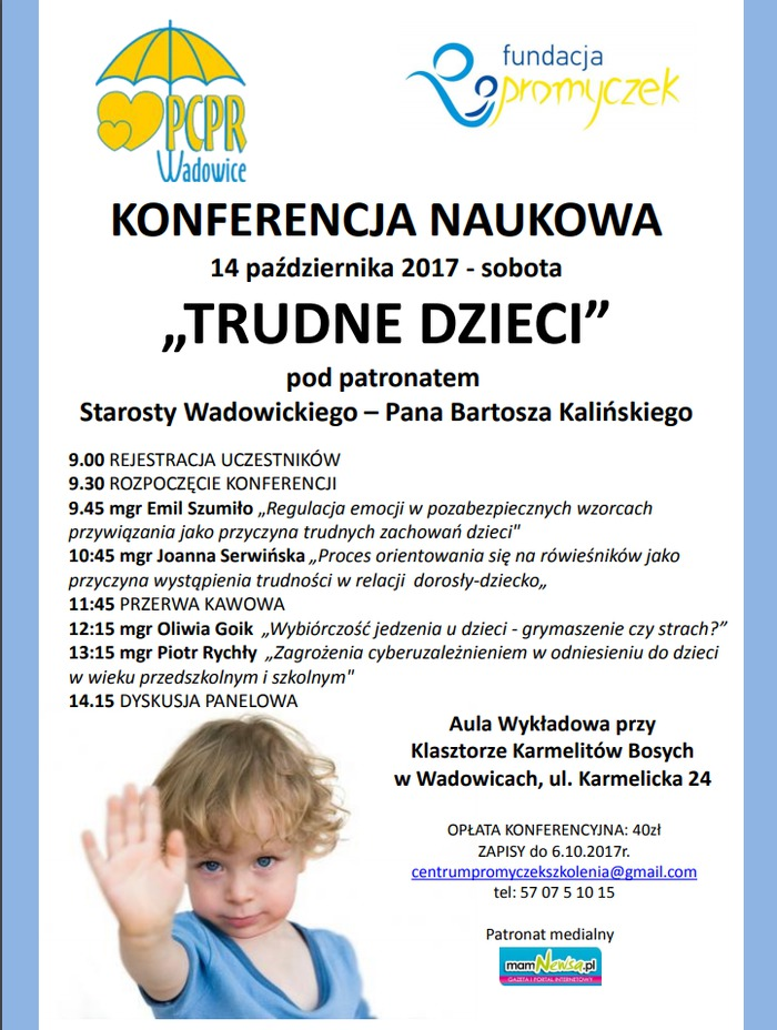 Trudne dzieci - konferencja naukowa