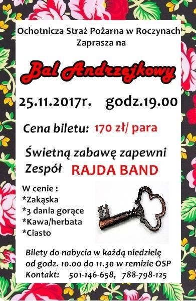 Zaproszenie na Bal Andrzejkowy