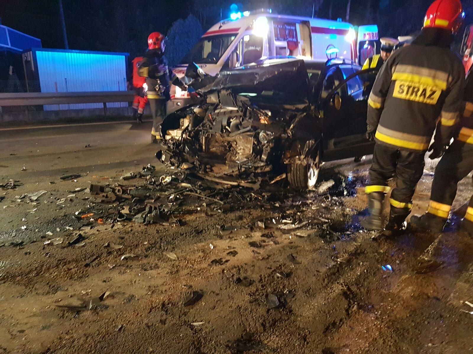 Wypadek na trasie Andrychów - Wadowice [FOTO]
