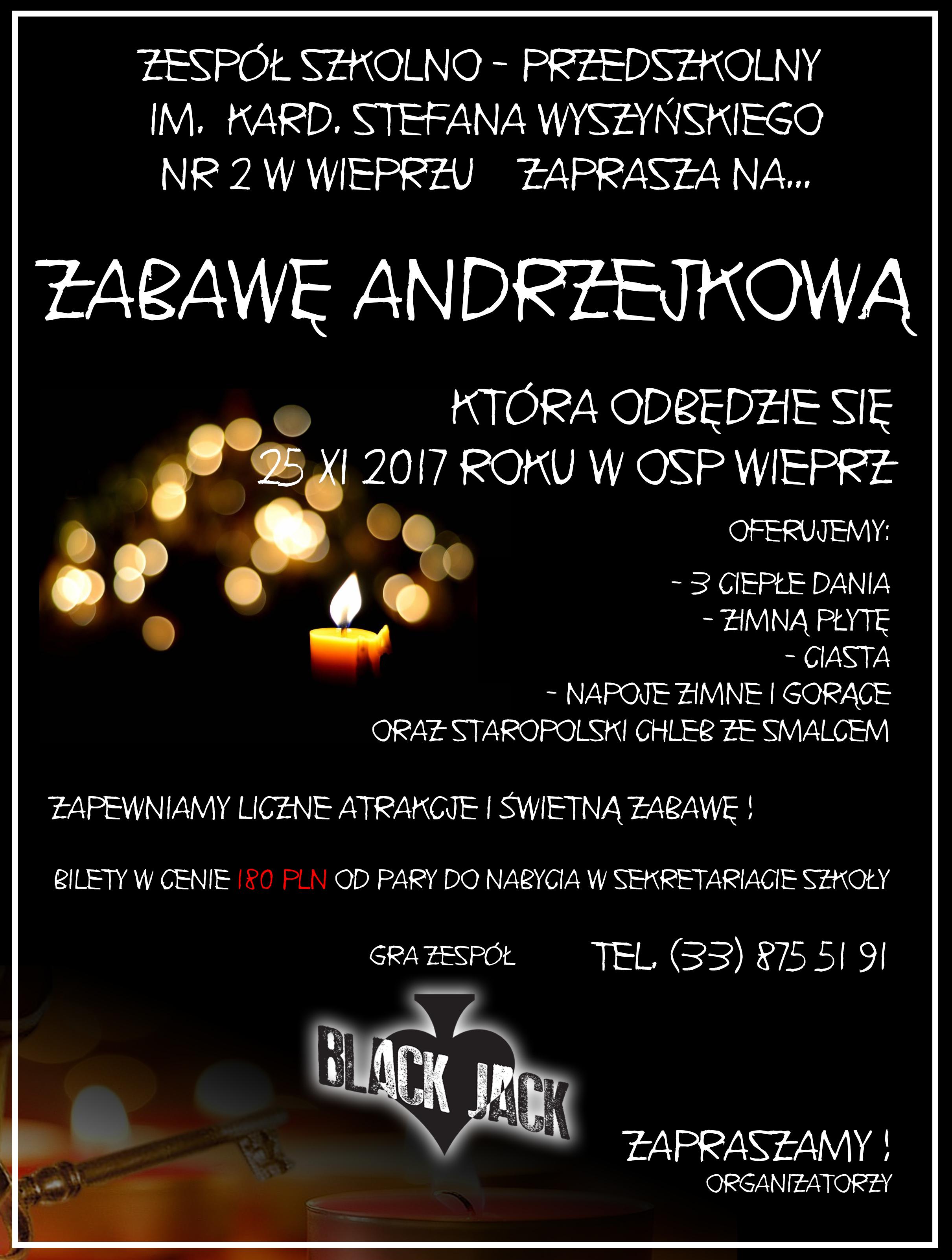 25 listopada Zabawa Andrzejkowa
