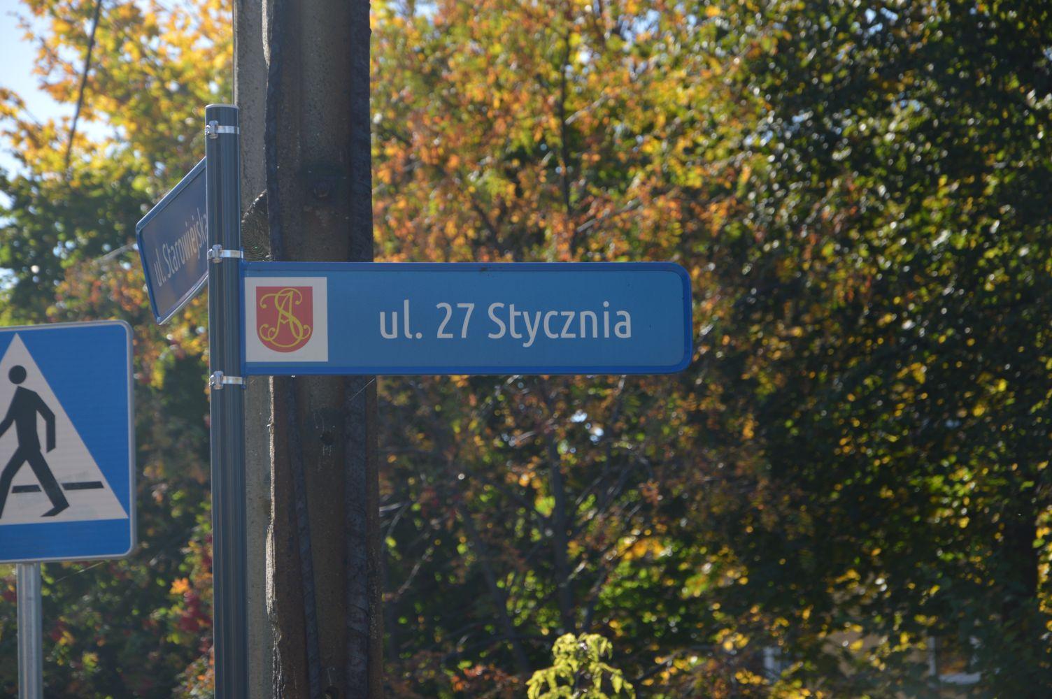 Mieszkańcy chcą utrzymania nazwy ulicy 27 Stycznia