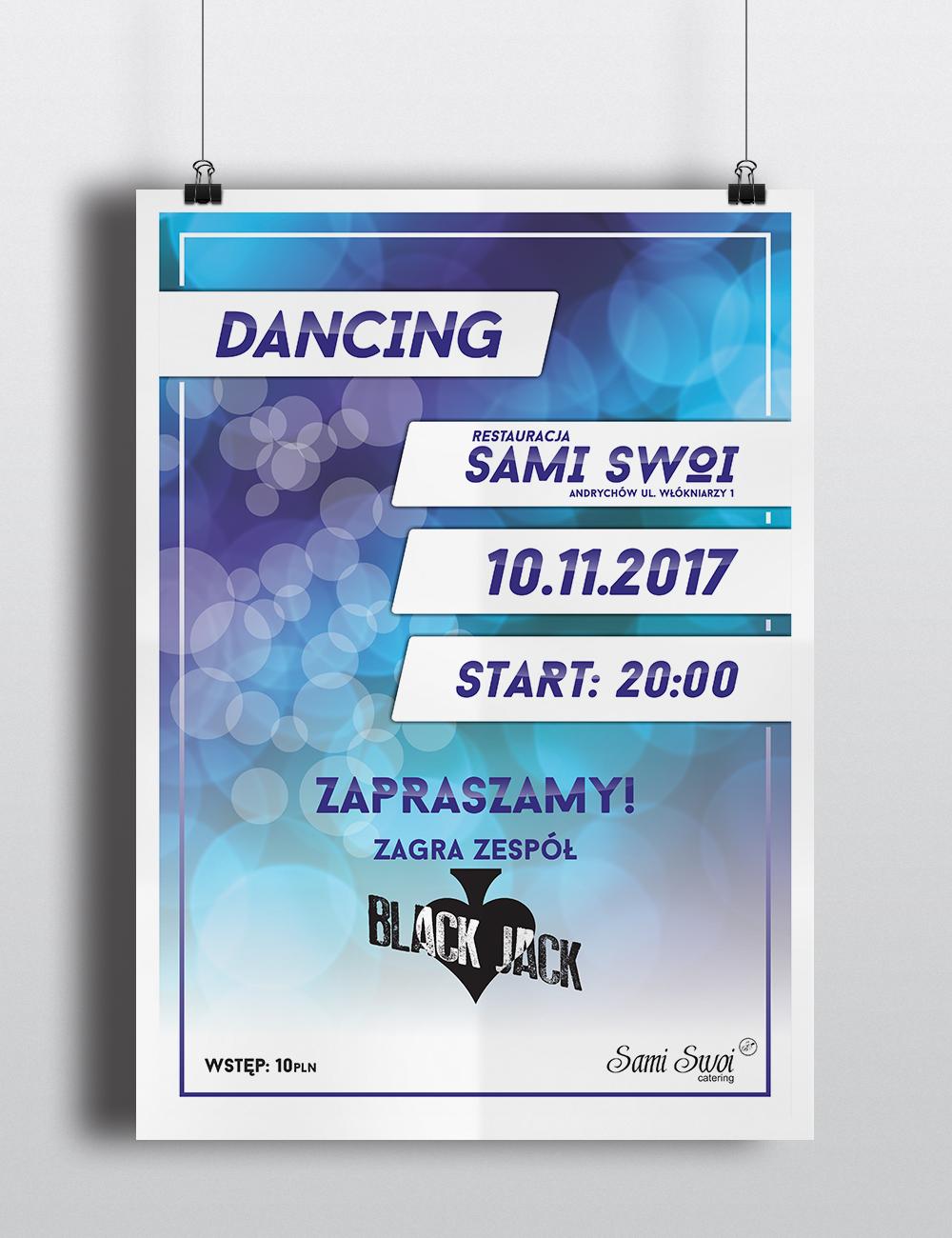 Dancing z muzyką na żywo z restauracji Sami Swoi