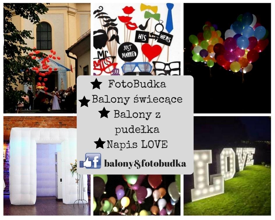 FotoBudka, balony z helem, napis LOVE już w Andrychowie!
