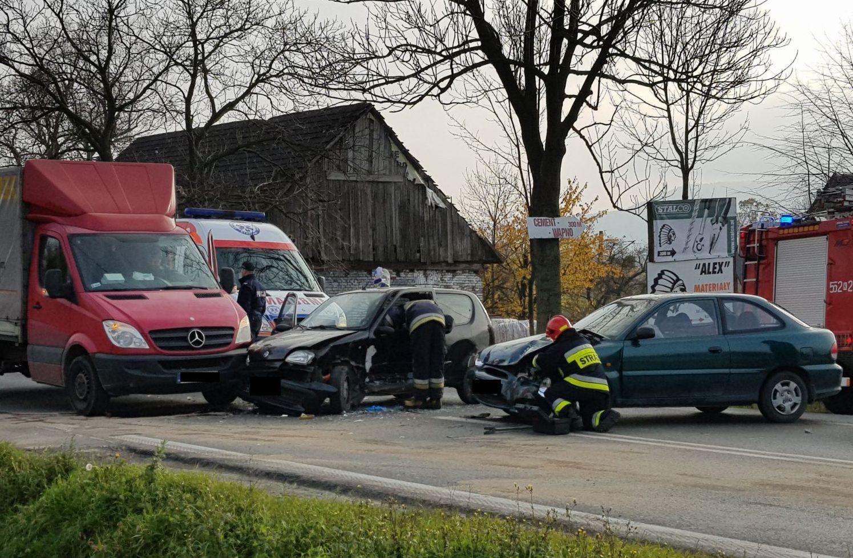 Wypadek na trasie Andrychów - Kęty [FOTO] [AKTUALIZACJA]