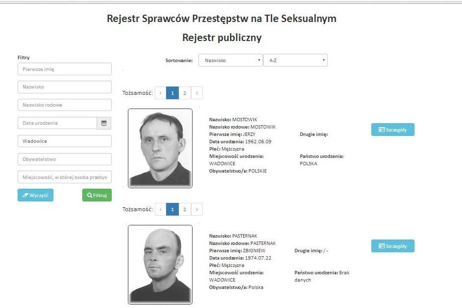Ruszył publiczny rejestr sprawców przestępstw seksualnych