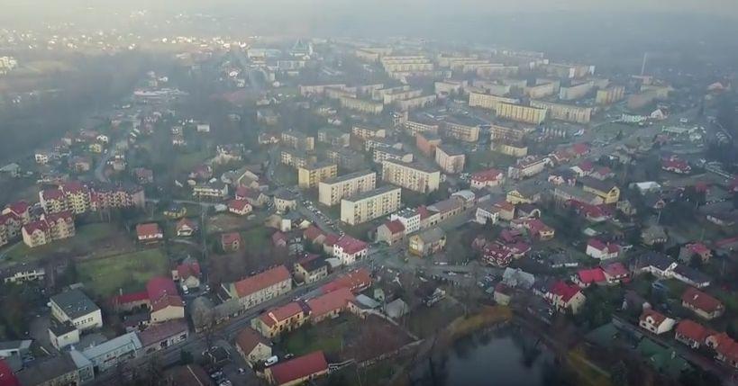 Smog andrychowski z lotu ptaka [VIDEO]