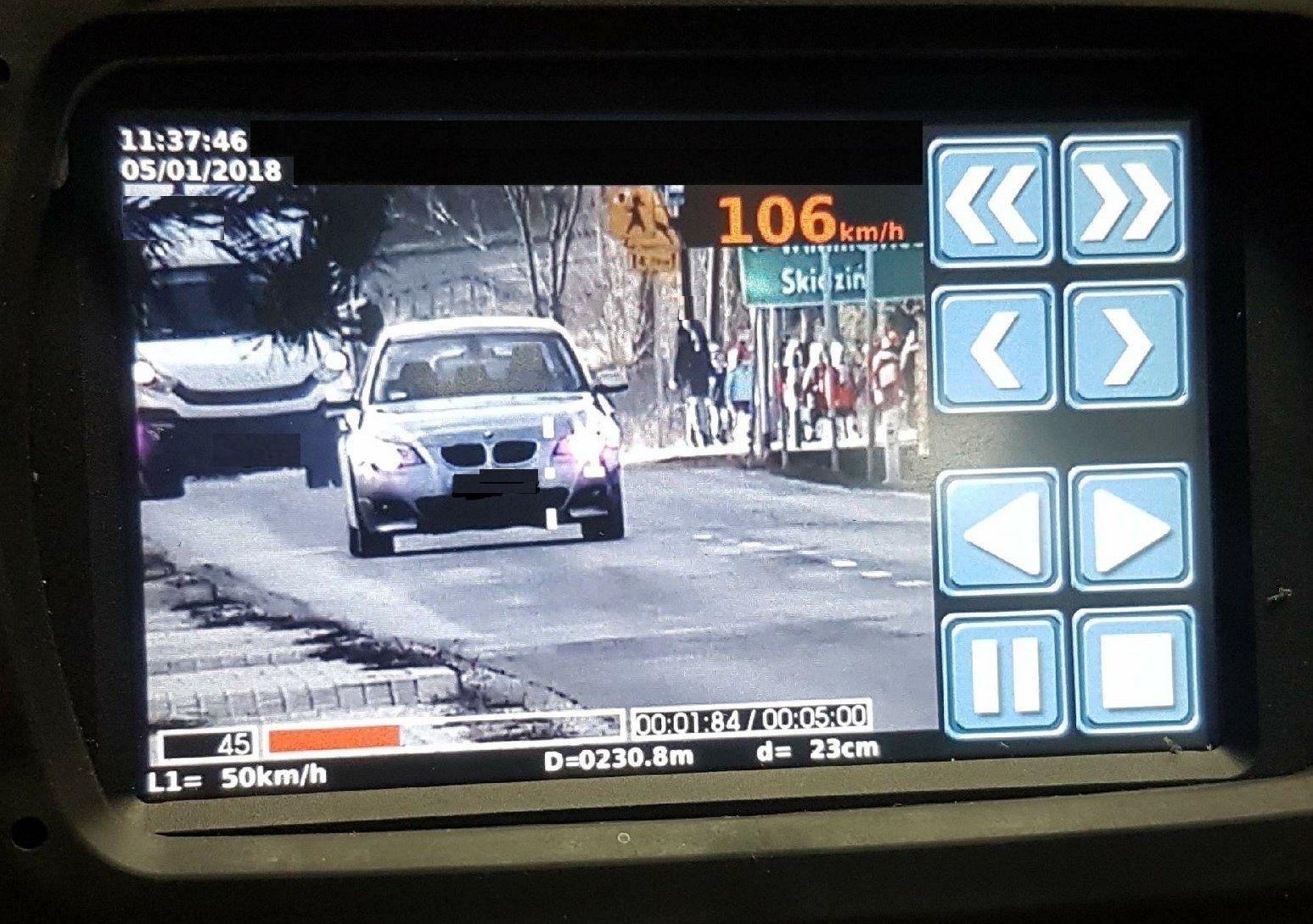 """Akcja """"Prędkość"""" z wykorzystaniem nowoczesnego laserowego videorejestratora"""