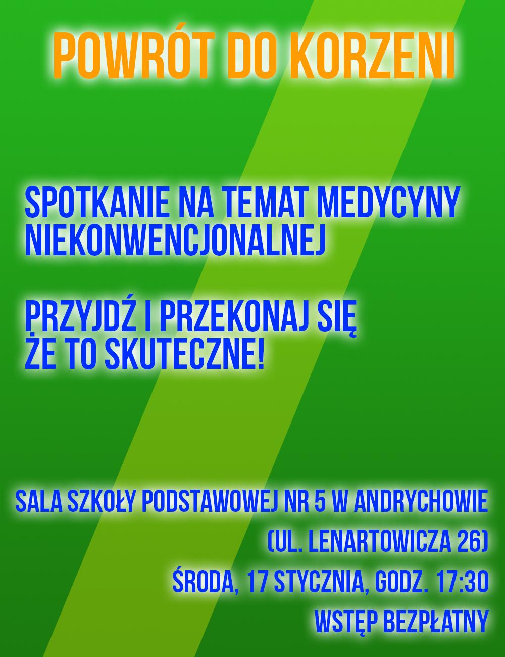 Spotkanie na temat medycyny niekonwencjonalnej w Andrychowie