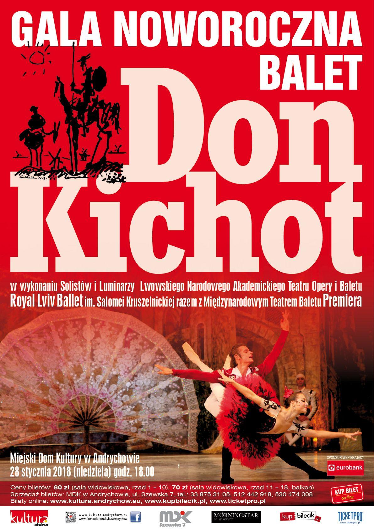 """Balet """"Don Kichot"""" już 28 stycznia w MDK w Andrychowie"""