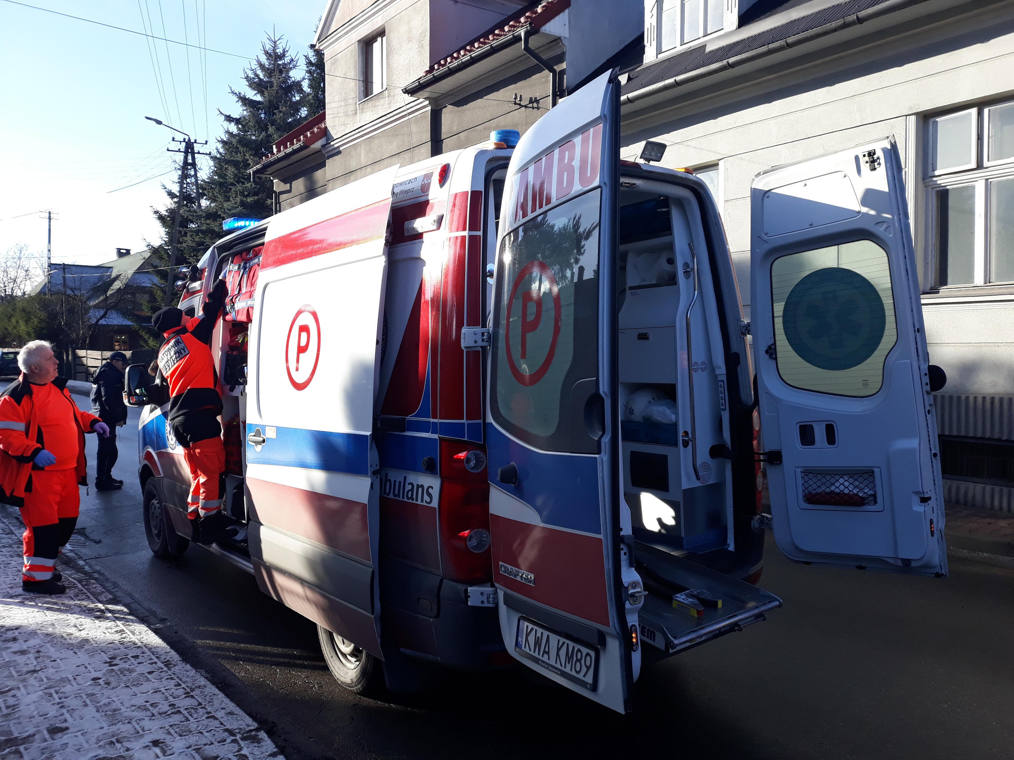 Niebezpieczny wypadek na jednej z andrychowskich ulic
