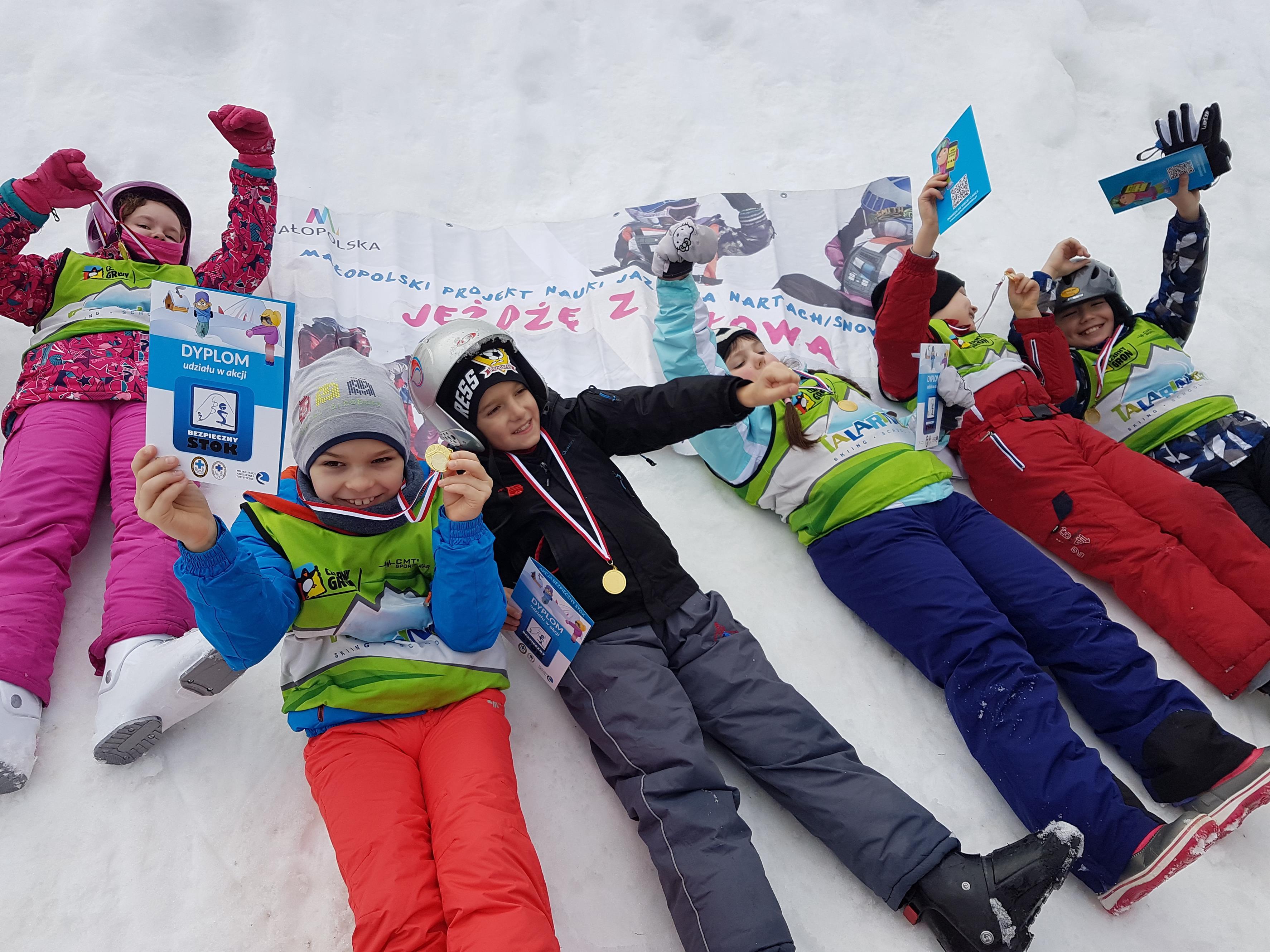 80 dzieci z gminy Andrychów nauczyło się jeździć na nartach