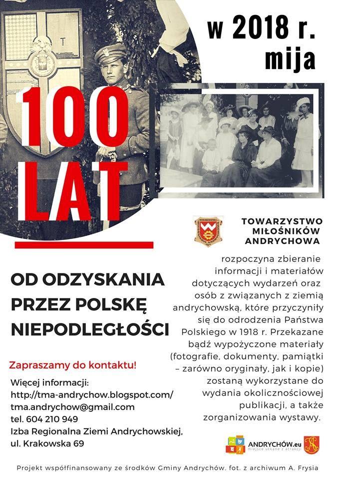 Towarzystwo Miłośników Andrychowa na 100-lecie odzyskania przez Polskę Niepodległości