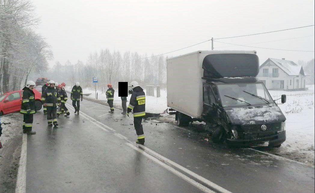 Groźny wypadek na drodze krajowej nr 44