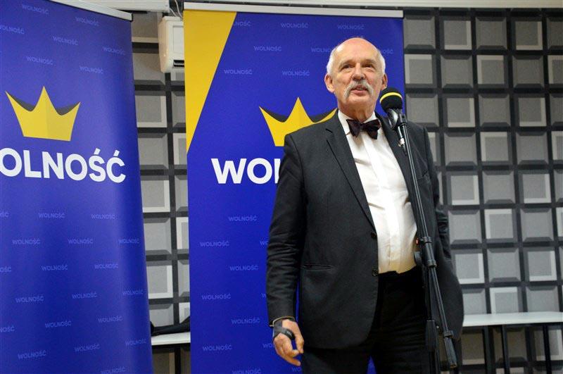 Janusz Korwin-Mikke w Wadowicach