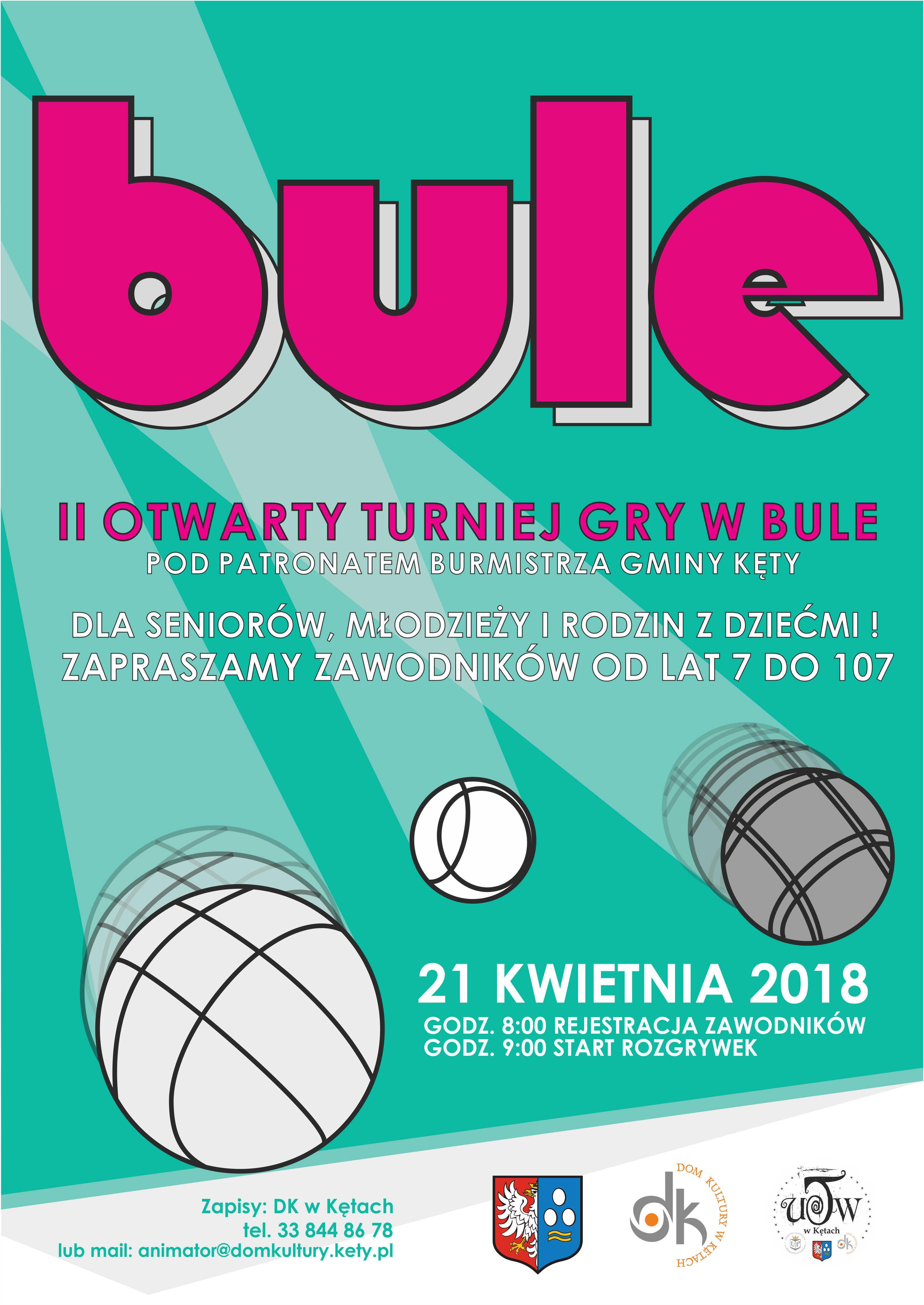 II Otwarty Turniej Gry w Bule pod Patronatem Burmistrza Gminy Kęty