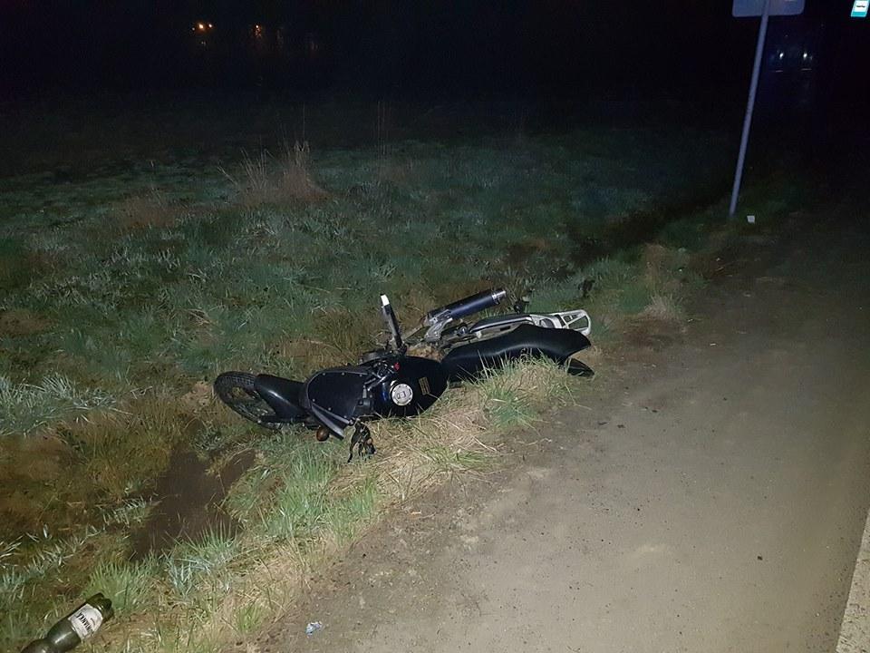 Pijany jak bela motocyklista-recydywista spowodował wypadek
