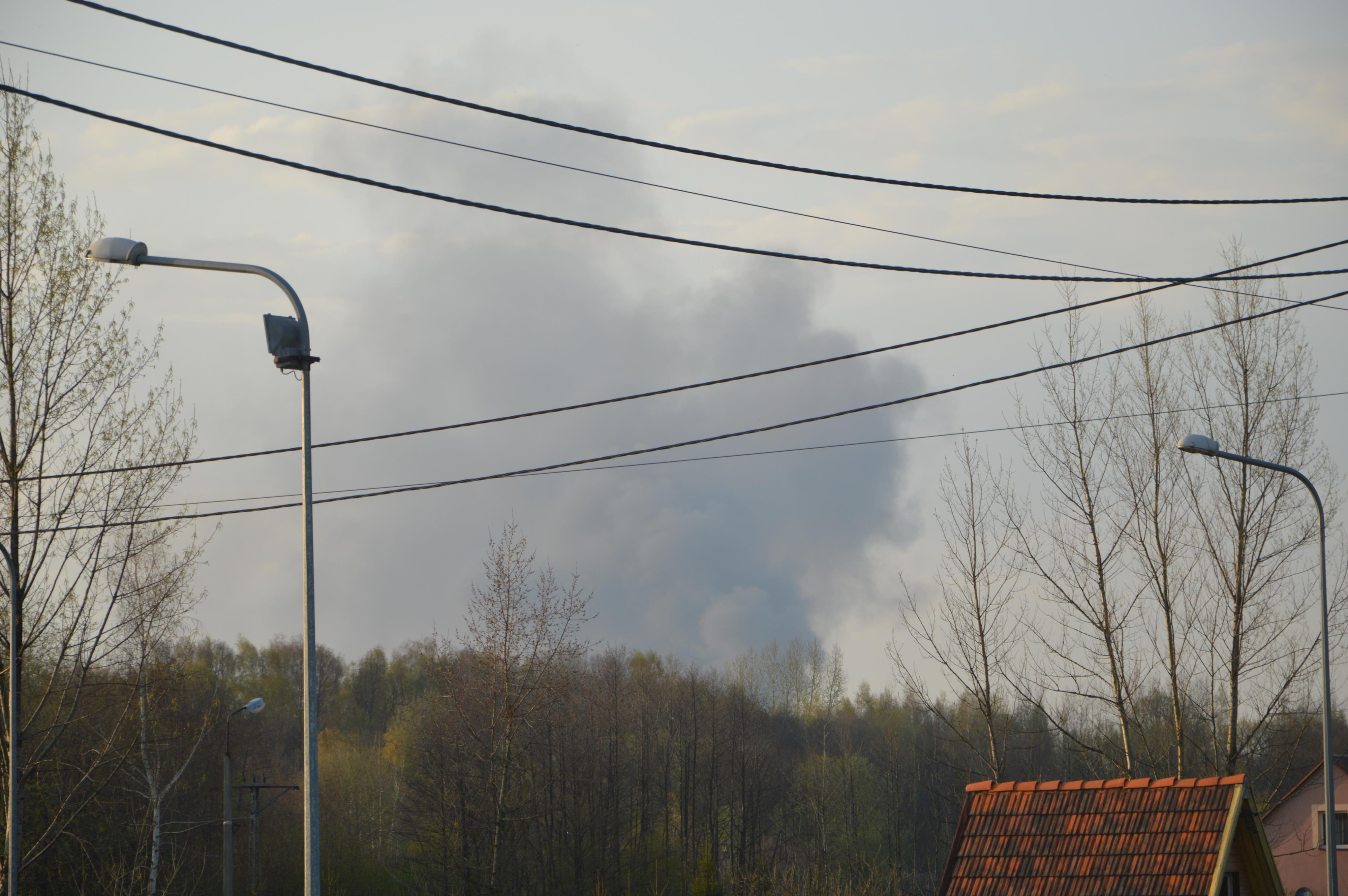 Chmura toksycznego dymu nad regionem