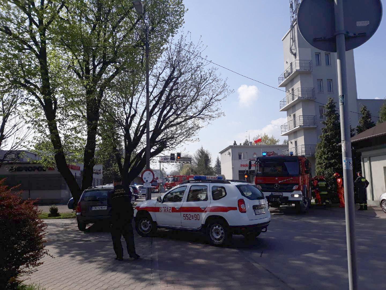 Niebezpieczna sytuacja w Andrychowie. Ewakuacja [FOTO]