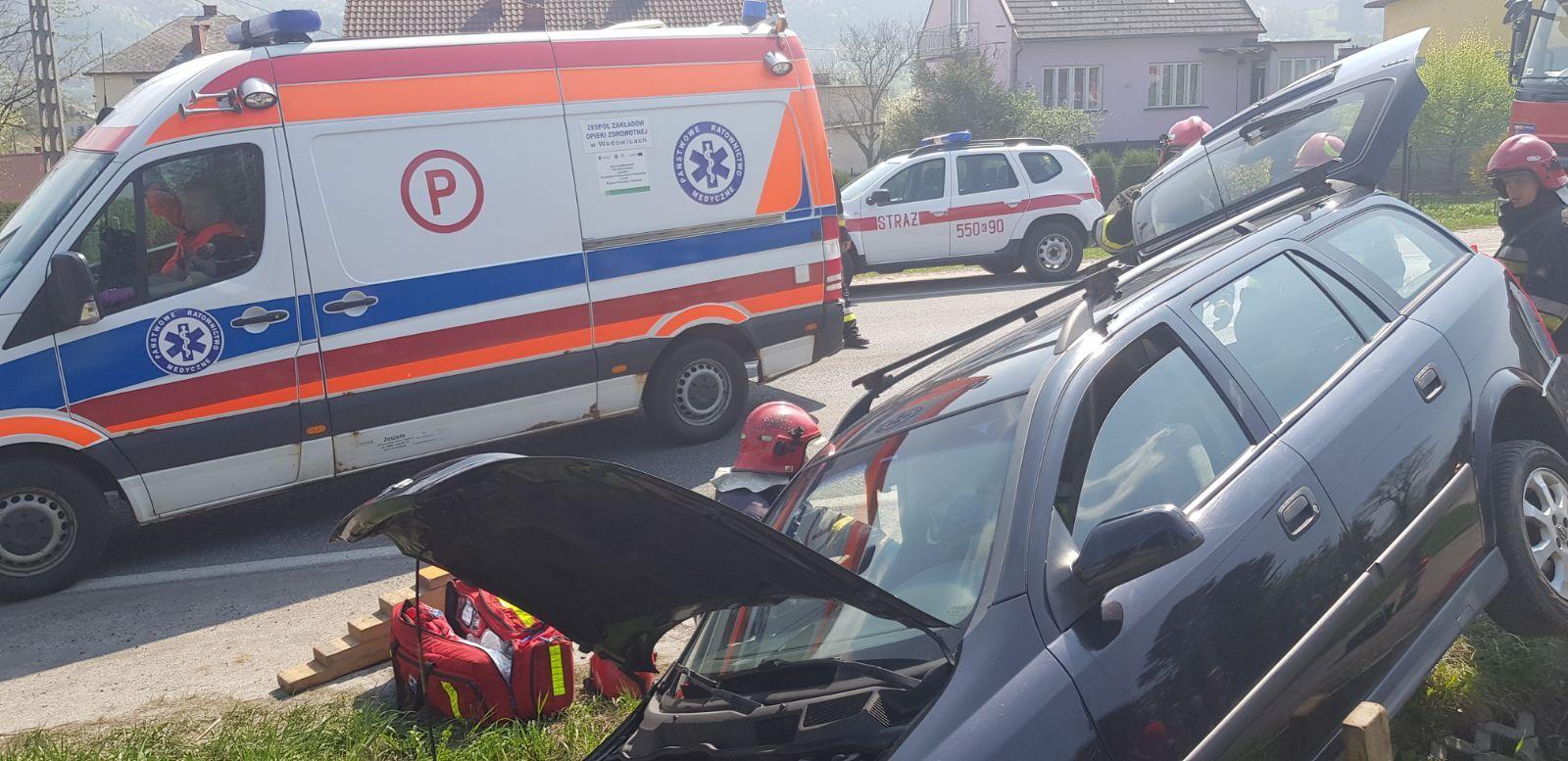 Wypadek na drodze Andrychów - Wadowice