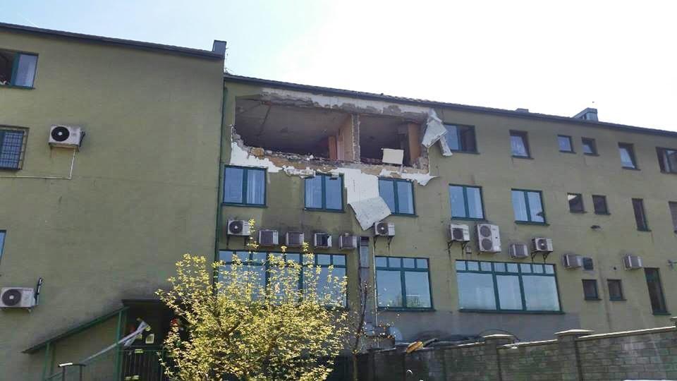 W budynku wybuchła butla, ogromne zniszczenia