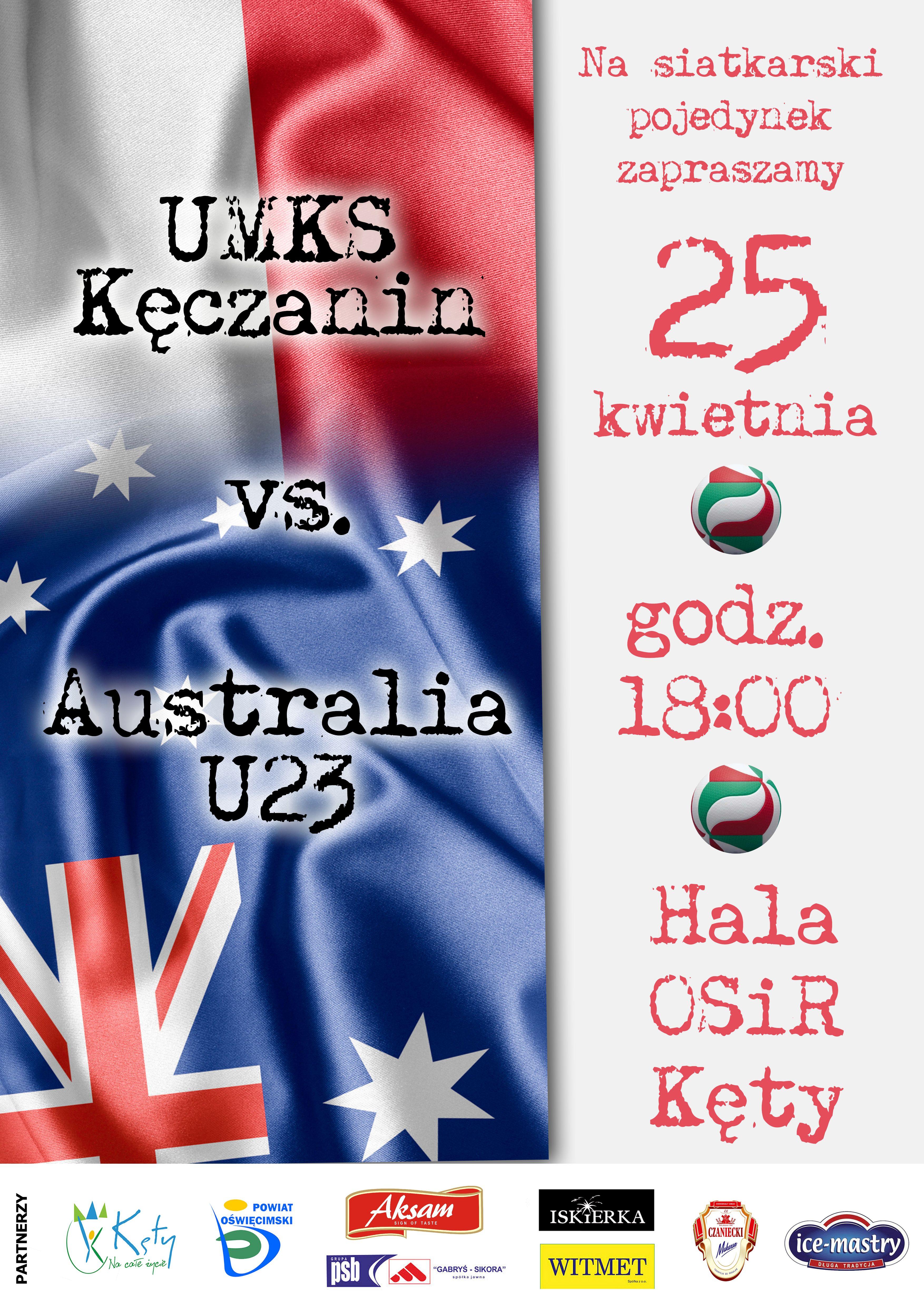 Kęczanin zagra z reprezentacją Australii
