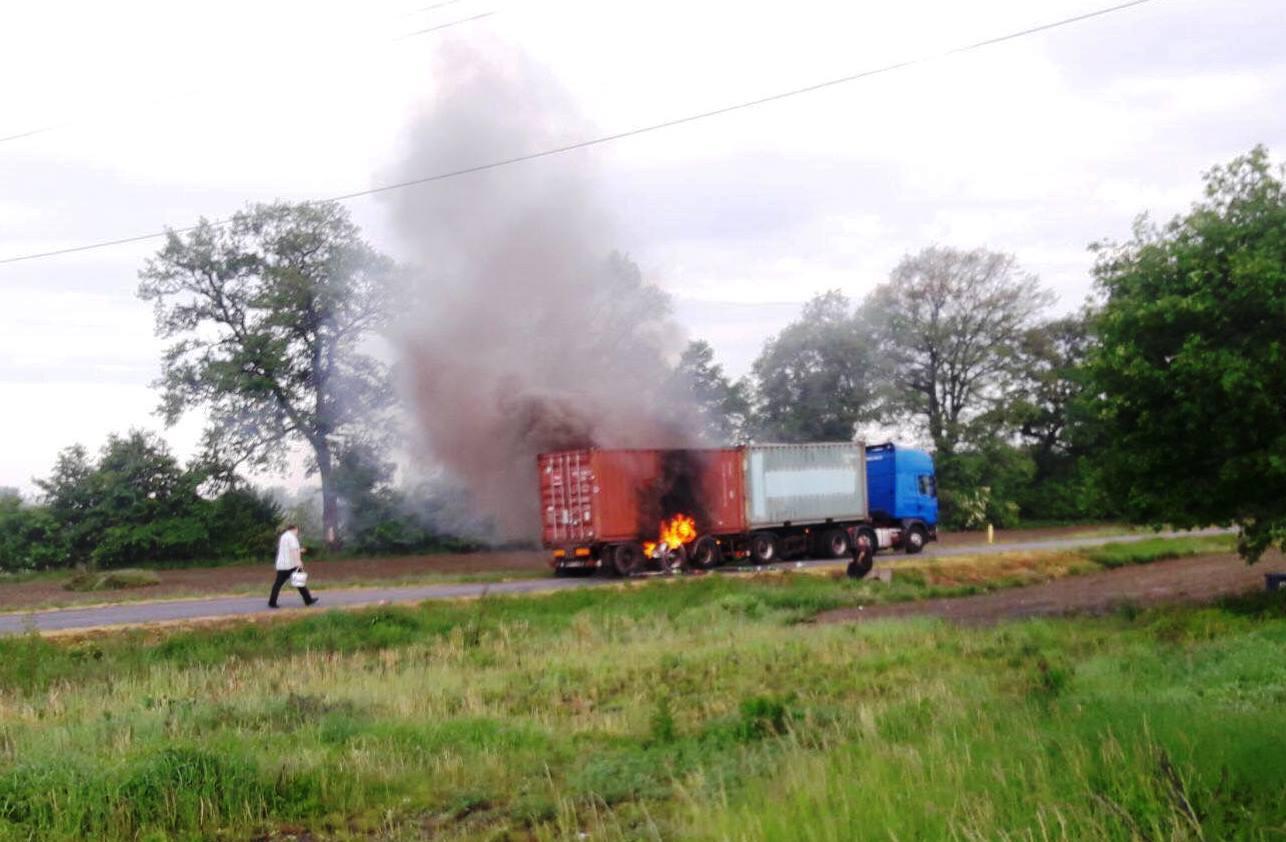 Kolejny niebezpieczny pożar ciężarówki