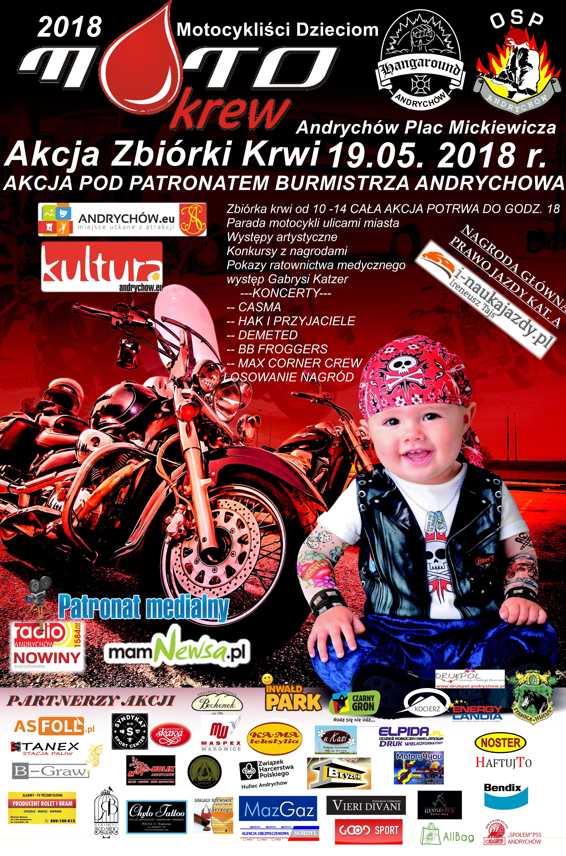 W sobotę akcja w Andrychowie: Motocykliści Dzieciom. Mnóstwo atrakcji na placu Mickiewicza