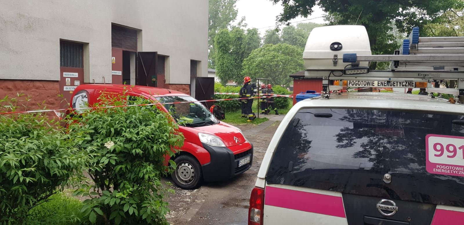 Pożar na Olszynach. Ewakuowano mieszkańców