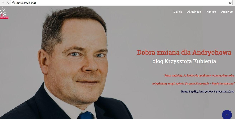 Krzysztof Kubień już rozpoczął kampanię wyborczą?