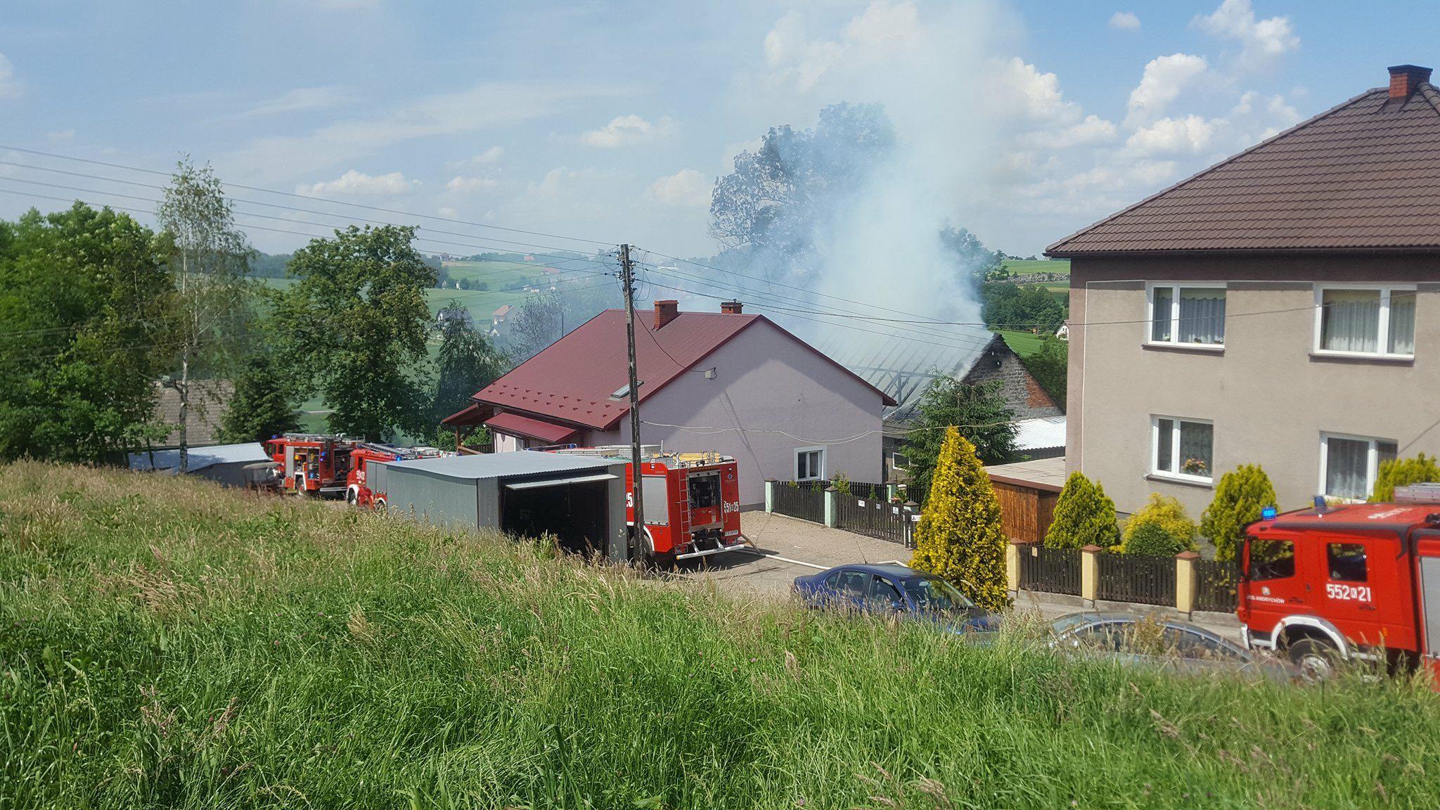 Pożar budynku, interweniowali strażacy [FOTO]