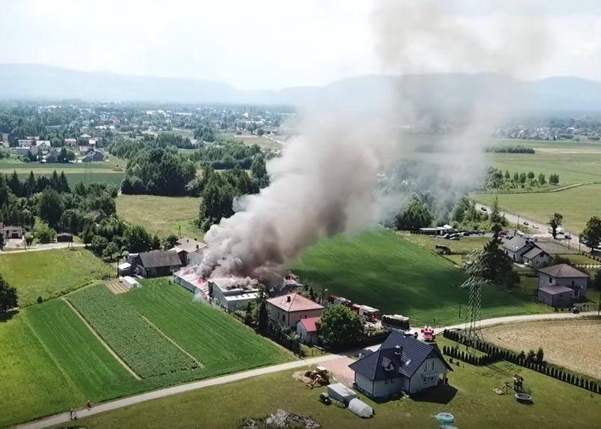 Ogromny pożar w gminie Kęty