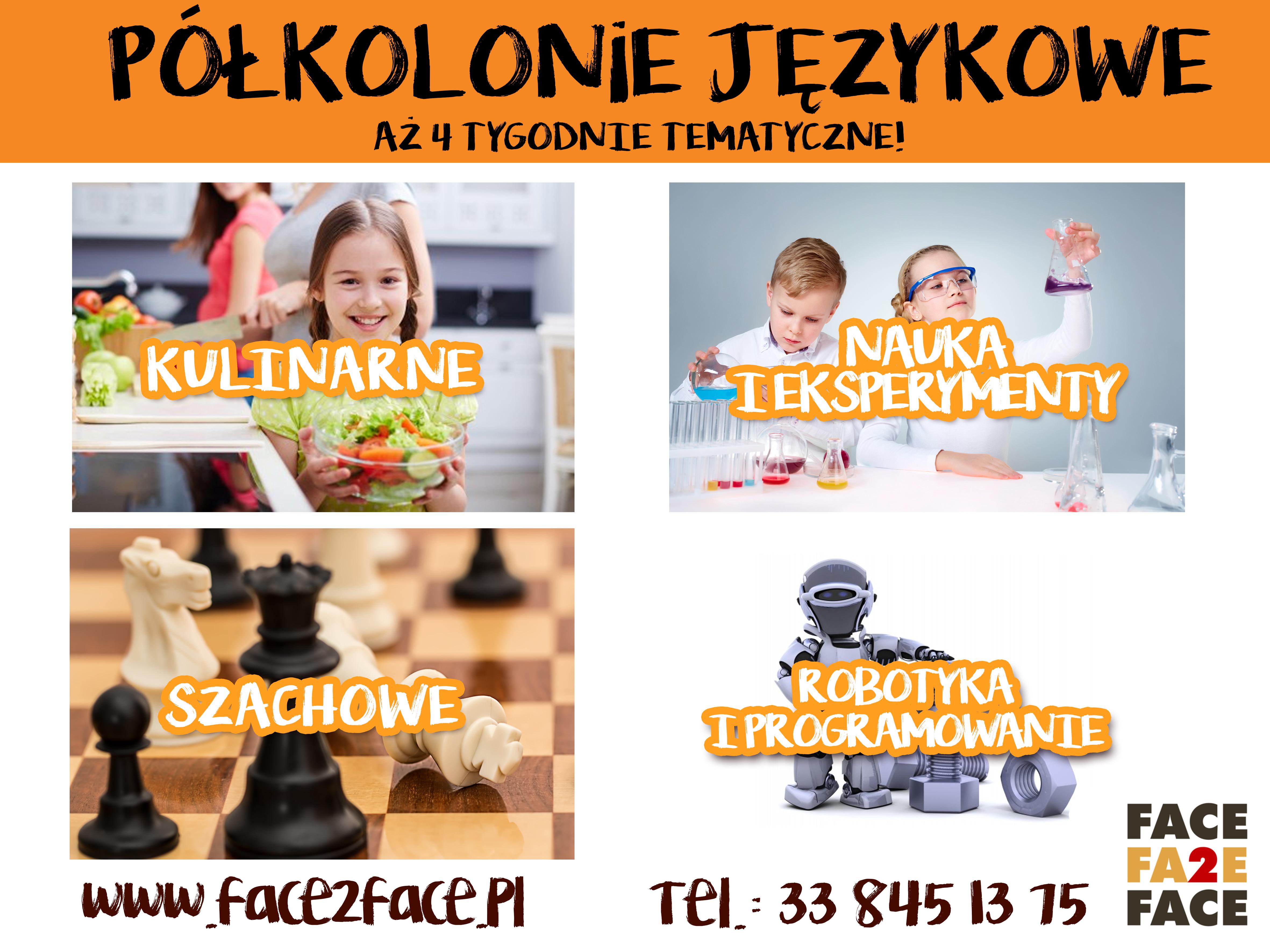 Półkolonie 2018 w Kętach i Andrychowie! Tylko w Face 2 Face!