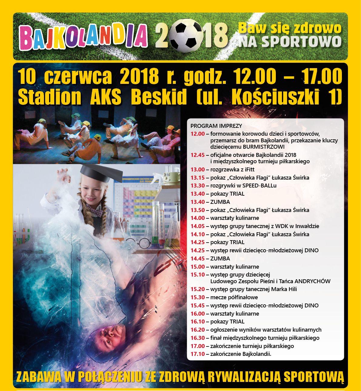 Bajkolandia jednak się odbędzie - 10 czerwca na stadionie