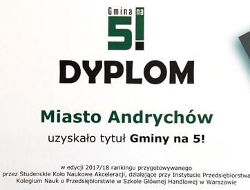 Studenci zbadali gminy. Okazało się, że Andrychów jest...