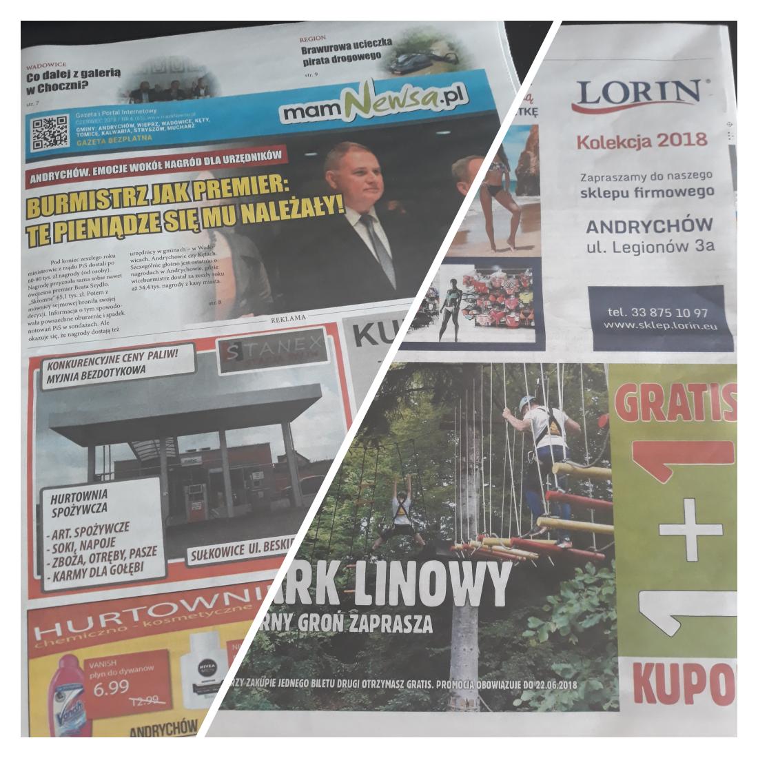 Kupon promocyjny w czerwcowym wydaniu gazety mamNewsa.pl